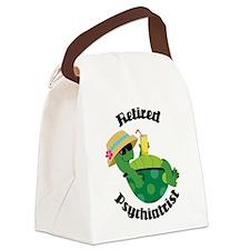Retired Psychiatrist Gift Canvas Lunch Bag