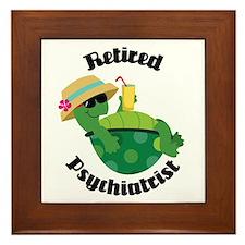 Retired Psychiatrist Gift Framed Tile