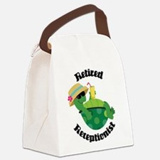 Retired Receptionist Gift Canvas Lunch Bag