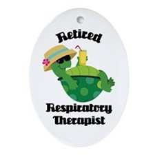 Retired Respiratory Therapist Ornament (Oval)