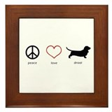 Basset hound Framed Tiles