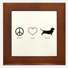 Peace, Love, Drool Framed Tile