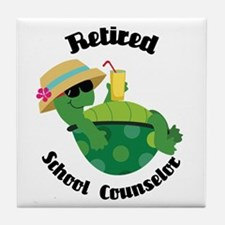Retired School Counselor Gift Tile Coaster