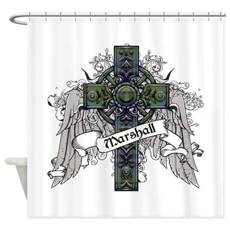 Marshall Tartan Cross Shower Curtain By ScottishTartans