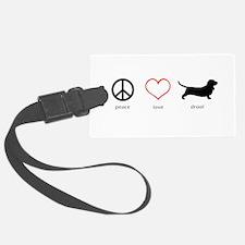 Peace, Love, Drool Luggage Tag