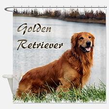 Golden Retriever Art Shower Curtain