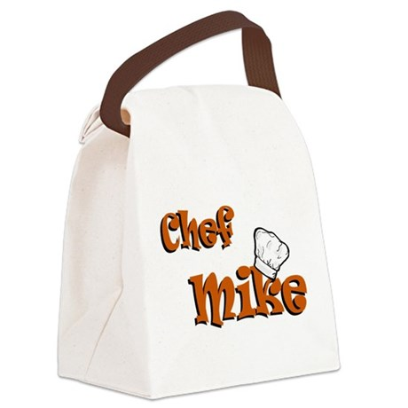 chef mike color.png Canvas Lunch Bag