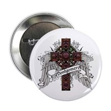 "Montgomery Tartan Cross 2.25"" Button"