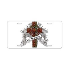 Morrison Tartan Cross Aluminum License Plate