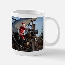 Santa on bike Mug