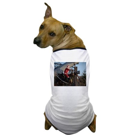 Santa on bike Dog T-Shirt