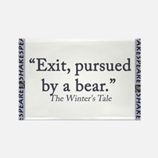 Exit, Pursued By A Bear Rectangle Magnet