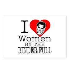 Mitt Romney: I Love Women By The Binder Full Postc