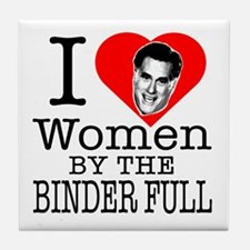 Mitt Romney: I Love Women By The Binder Full Tile