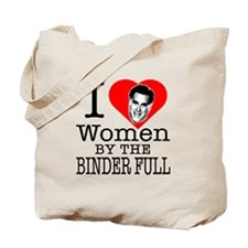 Mitt Romney: I Love Women By The Binder Full Tote
