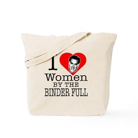 Mitt Romney: I Love Women By The Binder Full Tote