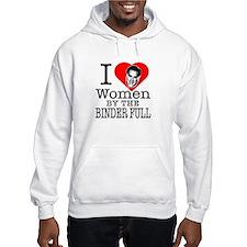Mitt Romney: I Love Women By The Binder Full Hoode