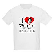 Mitt Romney: I Love Women By The Binder Full T-Shirt