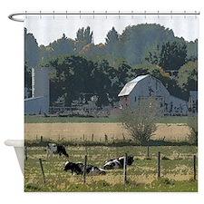Cows on the farm Shower Curtain