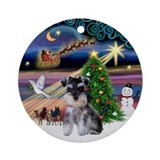 Miniature schnauzer christmas Ornaments