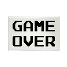 Game Over Rectangle Magnet
