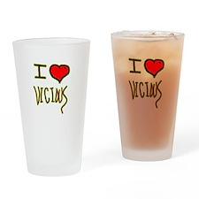 i love vicious heart halloween Drinking Glass