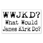 Geek / Nerd Star Trek fan Rectangle Sticker