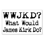 Geek / Nerd Star Trek fan Rectangle Sticker