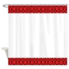 Chic Red Black Designer Shower Curtain