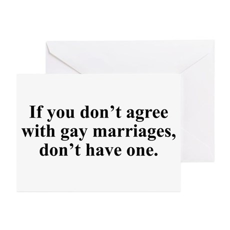 Don't agree Greeting Cards (Pk of 10)