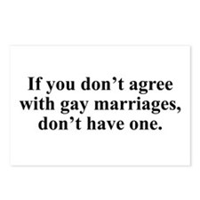 Don't agree Postcards (Package of 8)
