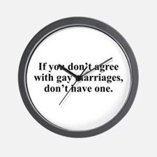 Don't agree Wall Clock