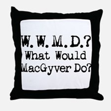 Vintage 90s MacGyver T.V. Series Throw Pillow