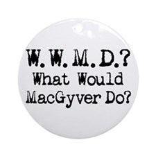 Vintage 90s MacGyver T.V. Series Ornament (Round)