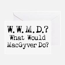 Vintage 90s MacGyver T.V. Series Greeting Card