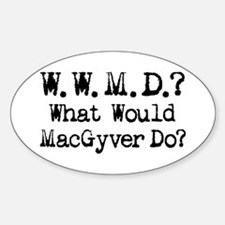 Vintage 90s MacGyver T.V. Series Oval Decal