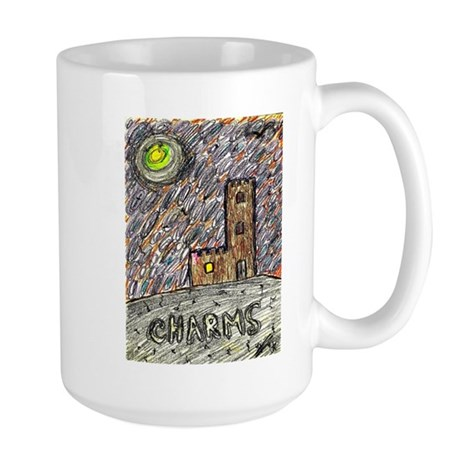 charms castle fantasy dreamlike Large Mug