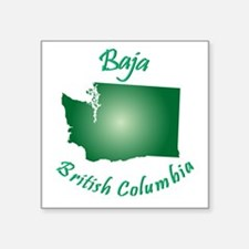 Baja British Columbia-Light Bgnd Square Sticker 3""