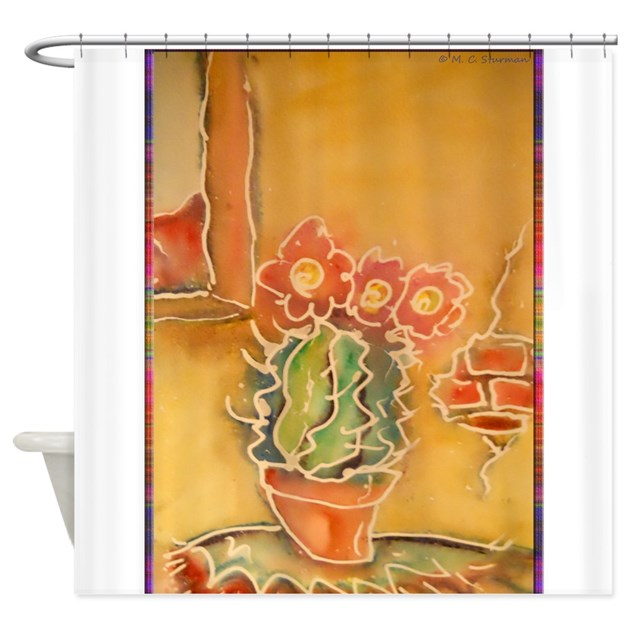 Cactus Southwest Art Shower Curtain By Meowriesnewwork