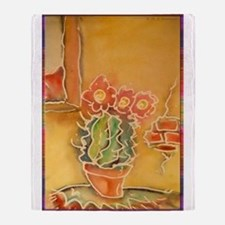 Cactus! Southwest art! Throw Blanket
