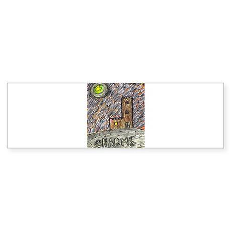 charms castle fantasy dreamlike Sticker (Bumper)