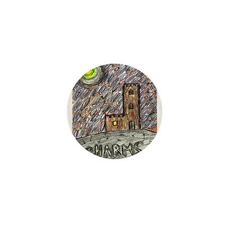 charms castle fantasy dreamlike Mini Button (100 p