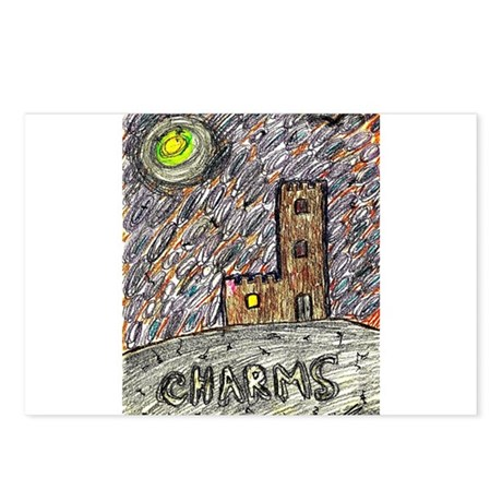 charms castle fantasy dreamlike Postcards (Package