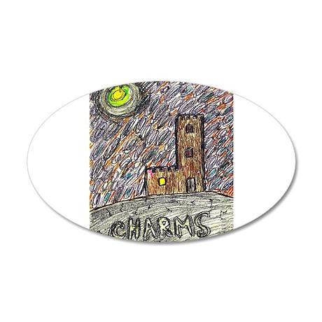 charms castle fantasy dreamlike 20x12 Oval Wall De