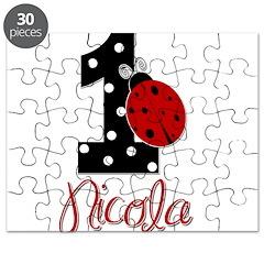 1 Ladybug - NICOLA - Custom Name Puzzle