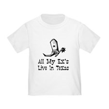 All My Ex's Live In TEXAS - Baby T-Shirt