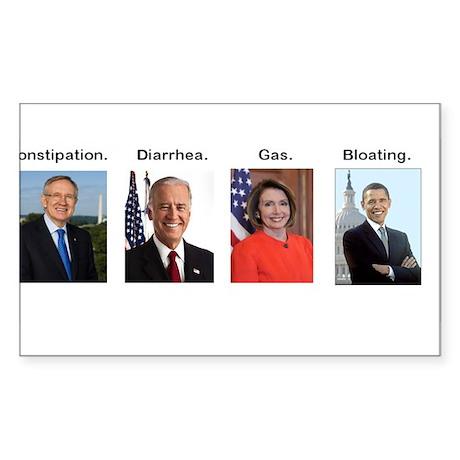 Democrats: Constipation. Diarrhea. Gas. Bloating.