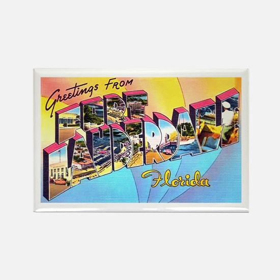 Fort Lauderdale Florida Greetings Rectangle Magnet