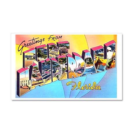 Fort Lauderdale Florida Greetings Car Magnet 20 x