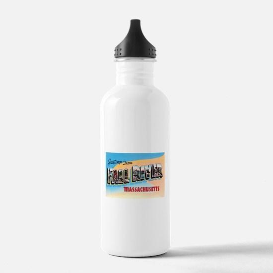 Fall River Massachusetts Greetings Water Bottle